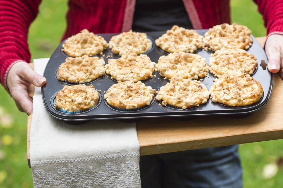 Apfel Nuss muffins rezept