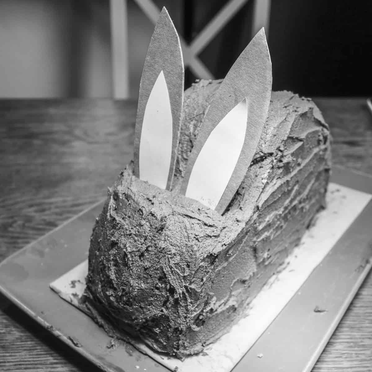 der fertige Osterhasenkuchen