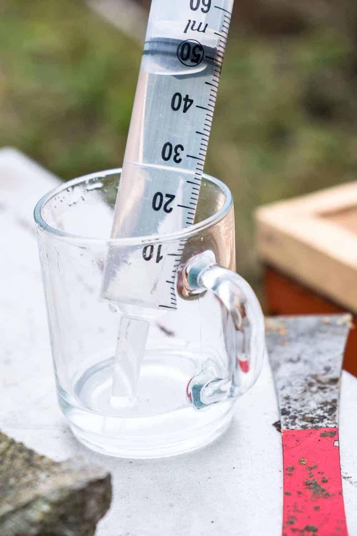 Varroabehandlung Dezember Oxalsäure träufeln