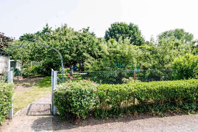 Unser Garten, vorher - nachher, von außen