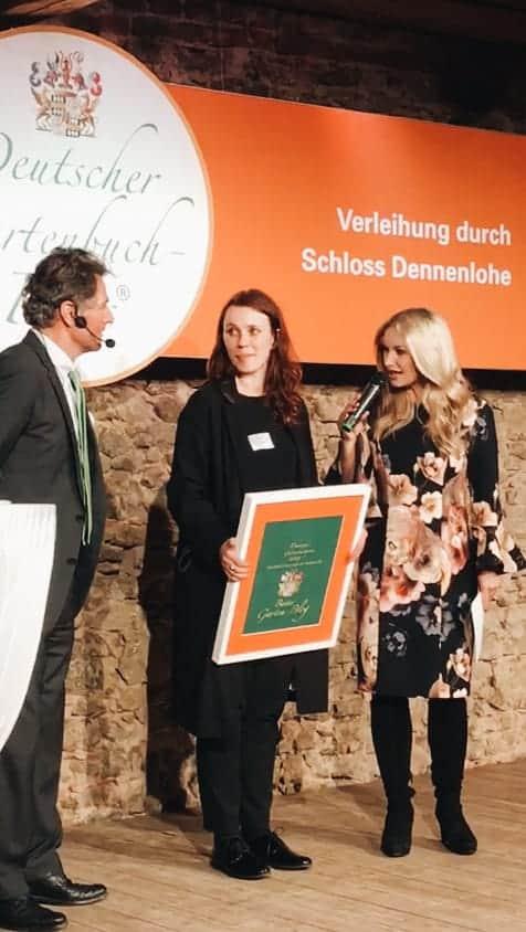 Deutscher Gartenbuchpreis 2019 auf Schloss Dennenlohe: Caro von Hauptstadtgarten gewinnt den Gartenbloggerpreis