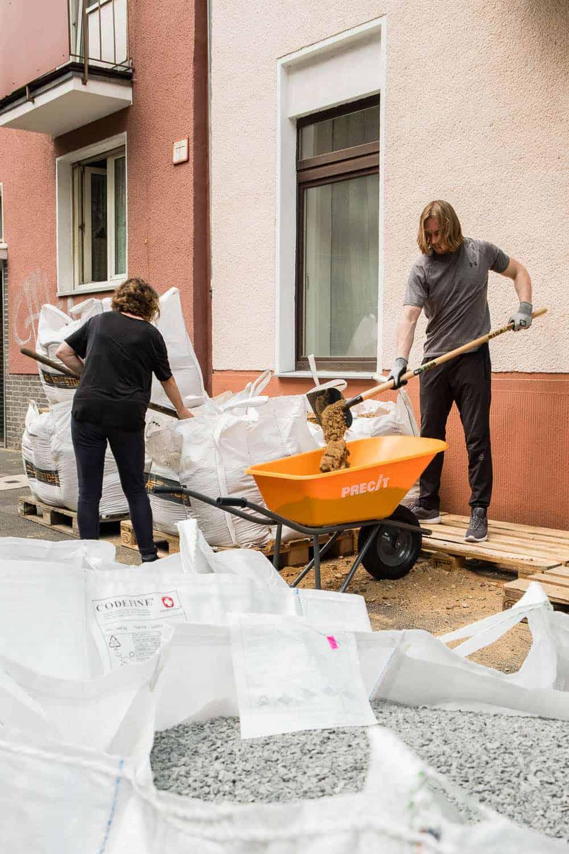 Terrasse bauen, Unterbau erstellen
