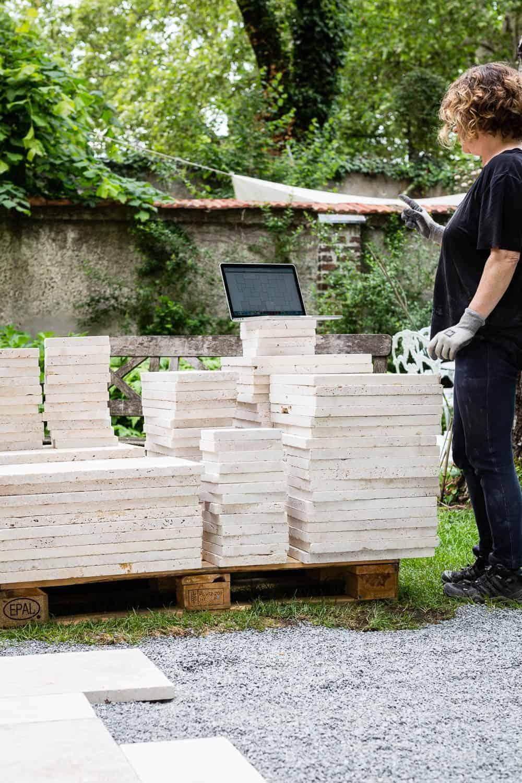 Terrassenplatten legen, Römischer Verband